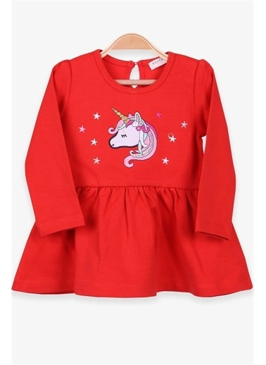 Breeze Kız Bebek Uzun Kollu Elbise Unicorn Narçiçegi  Mercan